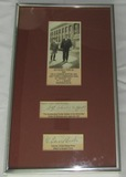 Original SGT. Alvin C. York & Colonel Buxton Signatures/Photo Framed Display