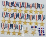 27pcs-Silver Star Medals/Ribbon Bars