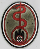 Rare WW2 German DDAC Vehicle Plaque For Doctor/Medical Personnel