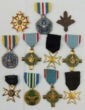 11pcs-U.S. Medal Grouping-Air Force Valor Cross-Military Merit-Superior Service Etc.