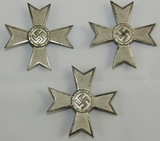 3pcs-WW2 Period 1st Class War Merit Crosses W/O Swords-S & L
