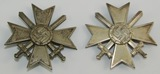 2pcs-WW2 War Merit Crosses 1st Class With Swords-One is Screw Back