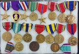 18pcs-Misc. U.S. Military Medals-US Coast Guard Medal Named/Dated 1932