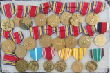 22pcs-U.S. WW2 Victory , Occupation and Campaign Medals.