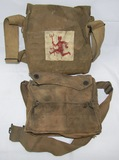 2pcs-WW1 U.S. Soldier Gas Masks-26th Division/103rd Machine Gun Bn.