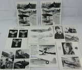 8pcs-Original Flying Tigers-USN Ace-Luftwaffe Aces-Russian Ace-MOH Signatures.