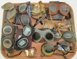 Lot Misc. Military Related Goggles-Aviation/Motorcycle/Mountain Troops  Etc.