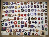158pcs-WW2 Period U.S. Divisional Distinctive Insignia-All Are Pin Back-Some With Maker