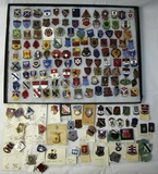 189pcs-Mostly WW2 Period U.S. Regimental Distinctive Insignia-All Pin Back-Some With Maker
