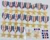 27pcs-Silver Star Medals/Ribbon Bars