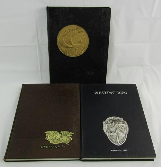 Lot: 3pcs-USN Cruise Books-Cruiser USS Boston And 2 USS