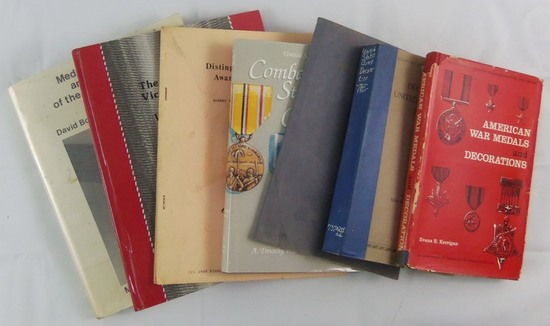 7 pcs. Interallied/US Medal/Ribbons/Awards Reference Books