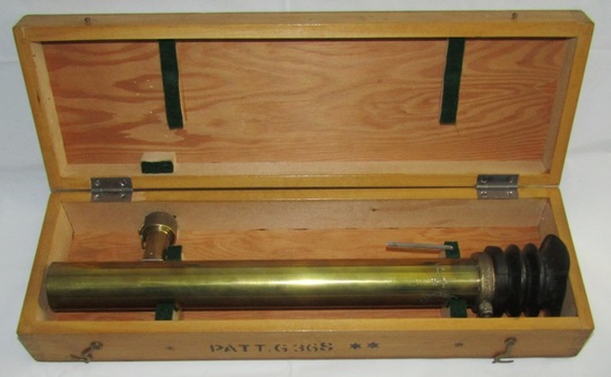 WW2 British Navy Gun Sight Telescope/Type 46 dated 1945 W/Original Wood case