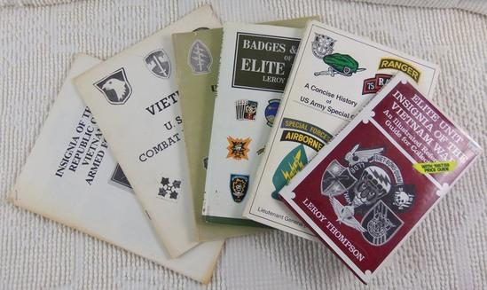 6 pcs. Vietnam War Era Insignia and History Reference Books