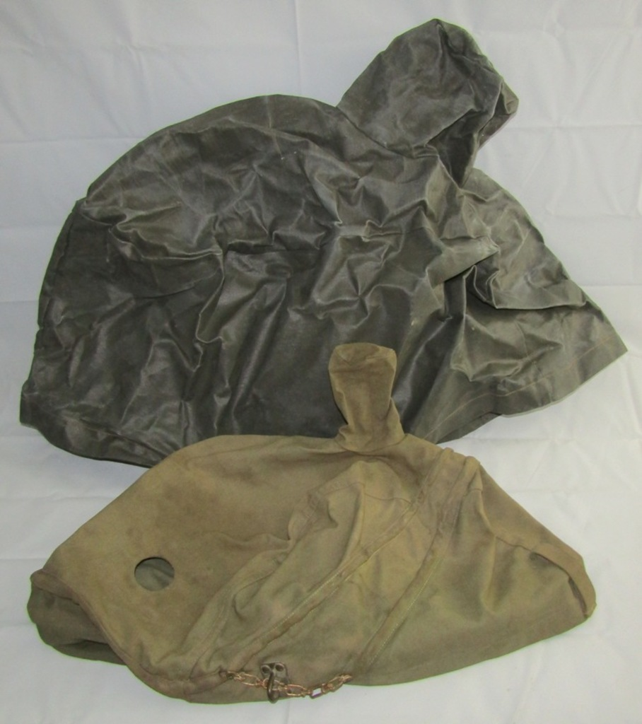 "2pcs-Rare WW2 Period Canvas And ""Vinyl"" Covers For The Sperry S-1/M-2 Bombsight"