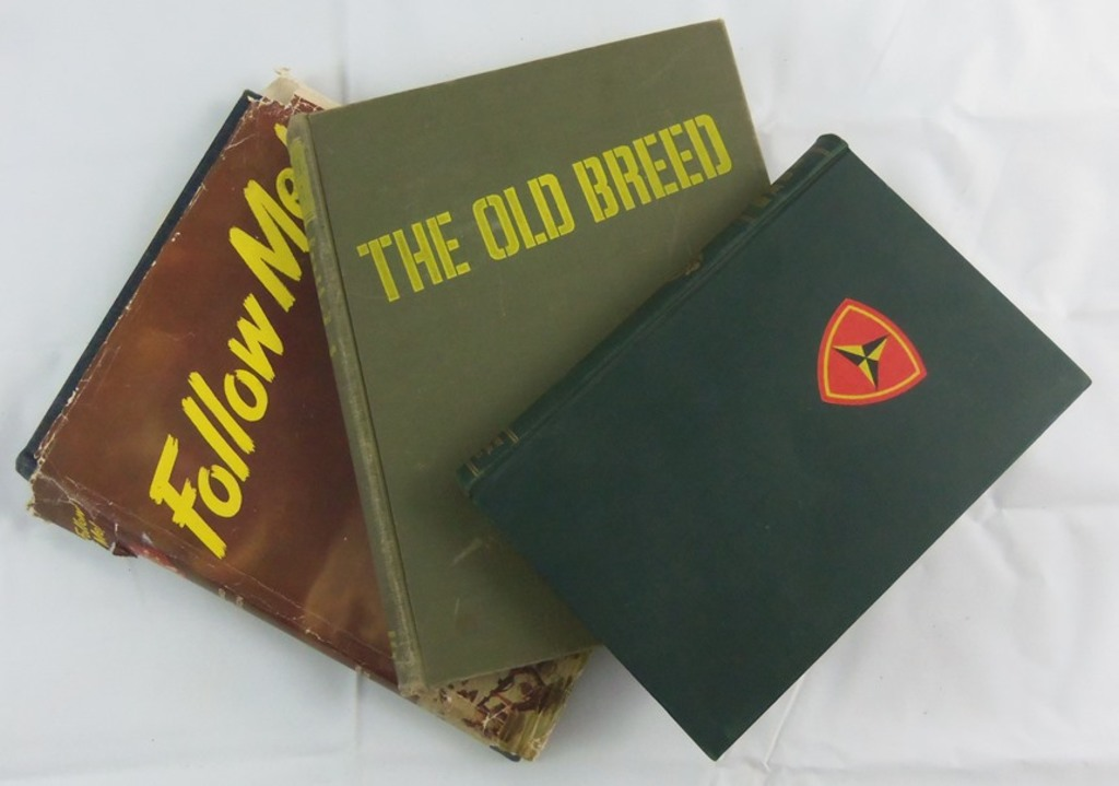 3pcs-WWII- 1st, 2nd & 3rd USMC Divisions Unit History Books