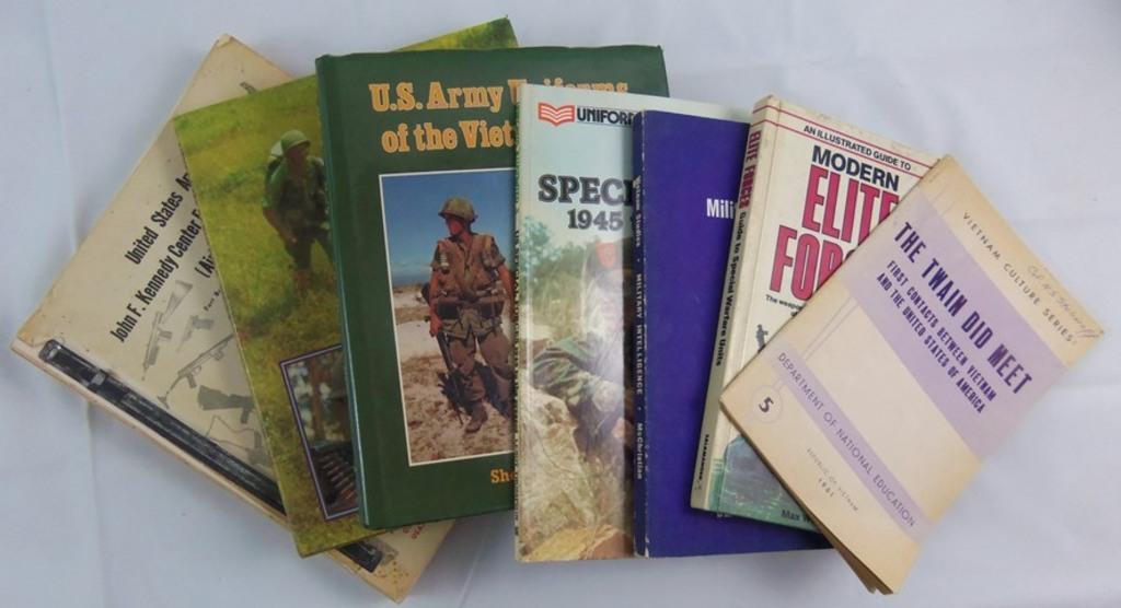 7 pcs. Vietnam War Era Uniform/History Reference Books