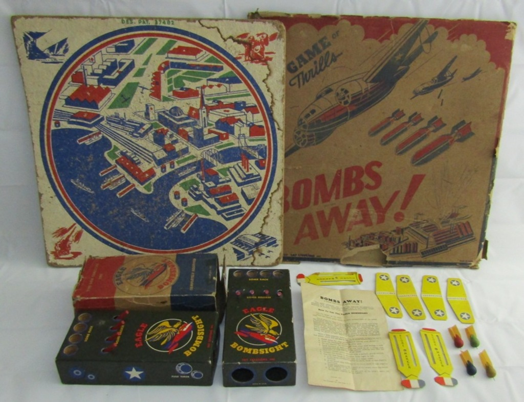 "WW2 Child's ""Bombs Away"" Bombsight Game"