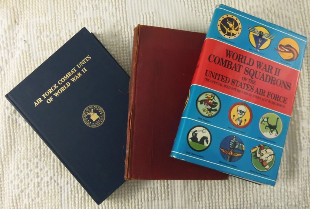3 pcs.  WWII Combat Units/Squadron Reference Books