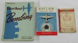 3pcs-WW2 Bombardier Student's Manual-B17/B24 Autopilot Manual-Sperry A-12 Service Manual
