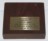 Original Piece Of The USS Missouri Teakwood Deck W/Dedication