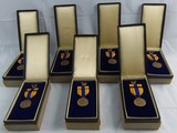 7pcs-Selective Service Medals With Cases/Cardboard Issue Boxes