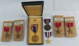 7pcs WW2 U.S. Medal Group-Unissued Bronze Stars-Silver Star-Soldier's Medal-Air Medal