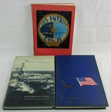 3pcs USN Aircraft Carrier Cruise Books-USS  Intrepid & 2 USS Forrrestal