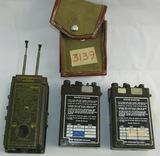3pcs-Vietnam War Period Radio Sets-2 Are AN/URC 68 Models-1 W/Carry Case & RT-159B/URTC-4 Set