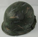 Vietnam War Period U.S. M1 Steel Helmet With