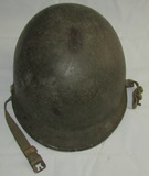 Early WW2 U.S. M1 Fixed Bale Helmet With Liner