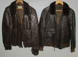 2pcs-Vietnam/Late Vietnam War Period USN G-1 Leather Pilot Jackets