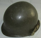 WW2 U.S.  Front Seam/Swivel Bale Helmet W/42nd Div. Insignia On Liner-Named
