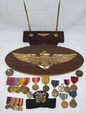 Late WW2/Vietnam Period Named USN Officer's Medal Insignia Grouping