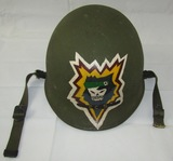 Vietnam War Period M1 U.S.  Helmet With Airborne Liner-Special Forces Painted Insignia