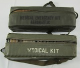 2pcs-Pre/Early Vietnam War Period USAF Aircraft Medical Kits