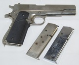 WW2 Remington-Rand M1911-A1 .45 Pistol-Nickel/Chrome Finish