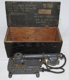 Scarce WW2 Japanese Destroyer/Aircraft Carrier Engine Room Phone W/Vet Shipping Box
