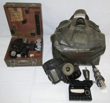 2pcs-WW2 USAAF A-10A Sextant W/Case-USN Bubble Type Sextant (AN5851-1) With Carry Bag