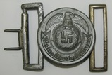 WWII Waffen SS Officer's Brocade Belt Buckle W/Keeper-Rare Maker-Emil Juttner