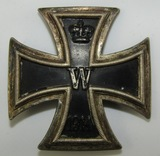 WW1 Screwback Iron Cross 1st Class-Attributed To Rare Maker-Arno Wallpach