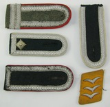 5pcs-Misc WWII German Army Shoulder Boards-Luftwaffe Collar Tab