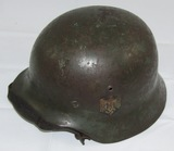 WW2 M35 Double Decal Heer Helmet W/Liner/Chin Strap-SE62