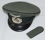 WWII German Pioneer Visor Cap/Shoulder Board For Enlisted