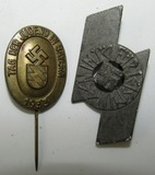 2pcs-Hitler Youth Numbered Proficiency Badge-Early (1933) HJ Rally Stick Pin