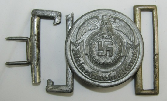 Scarce Late War Waffen SS Officer's Brocade Belt Buckle-Emil Jutner