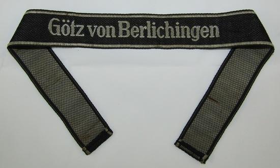 """Waffen SS 17th Panzer Grenadier Division """"Götz Von Berlichingen"""" Cuff Title For EM/NCO"""