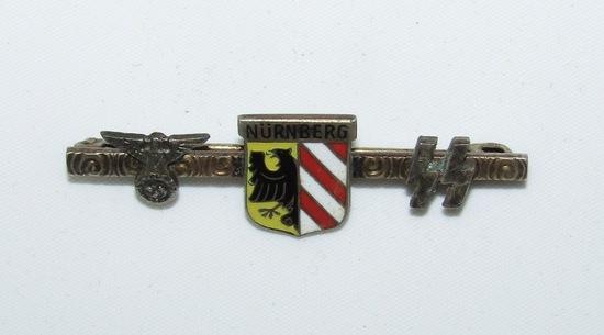 Rare WW2 SA/SS Nurnberg Lapel/Tie Pin/Brooch