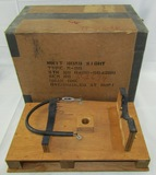 Original Wooden Shipping Crate And Shipping Box For The Norden Bombsight Head