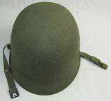 Korean War Period U.S. M1 Swivel Bale/Rear Seam Helmet With Airborne Liner